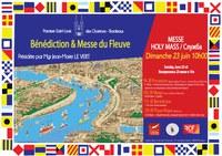 Dimanche 23 juin - à l'occasion de la fête du fleuve Messe sur les quais présidée par Mgr Jean-Marie Le Vert  et bénédiction des équipages et bateaux